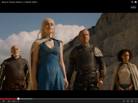 Game of Thrones Season 4  Trailer #1 HBO