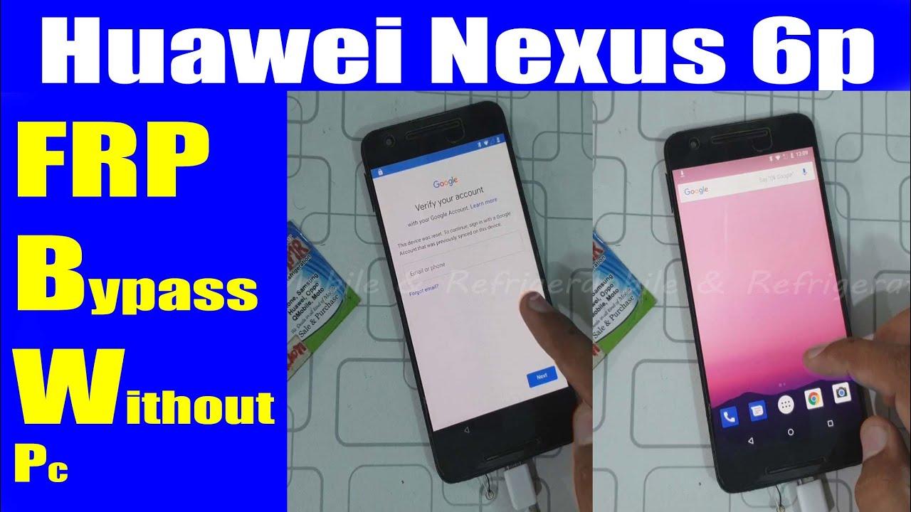 Huawei Nexus 6p FRP Bypass 6.0.1 Google Account Without PC | Urdu Hindi