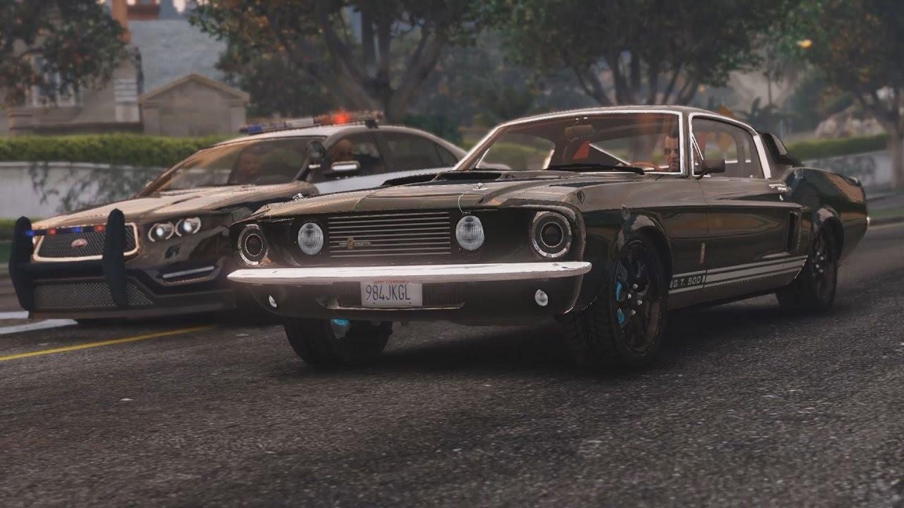 GTA 5 - 1967 Shelby Mustang GT500 Epic Police Chase ...