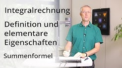 Integralrechnung - Summenformel