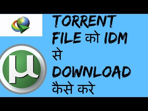 how to download torrented files in idm