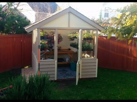 DIY Small Greenhouse YouTube - Backyard greenhouse ideas