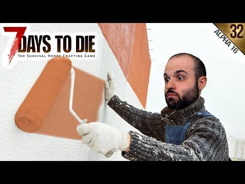 7 DAYS TO DIE A16 #32 | PINTOR PROFESIONAL | Gameplay Español