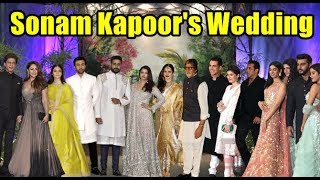 Sonam Kapoor Wedding Reception Video With Bollywood Celebs | Full HD Uncut