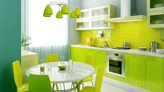 видео Дизайн кухни в салатовых тонах