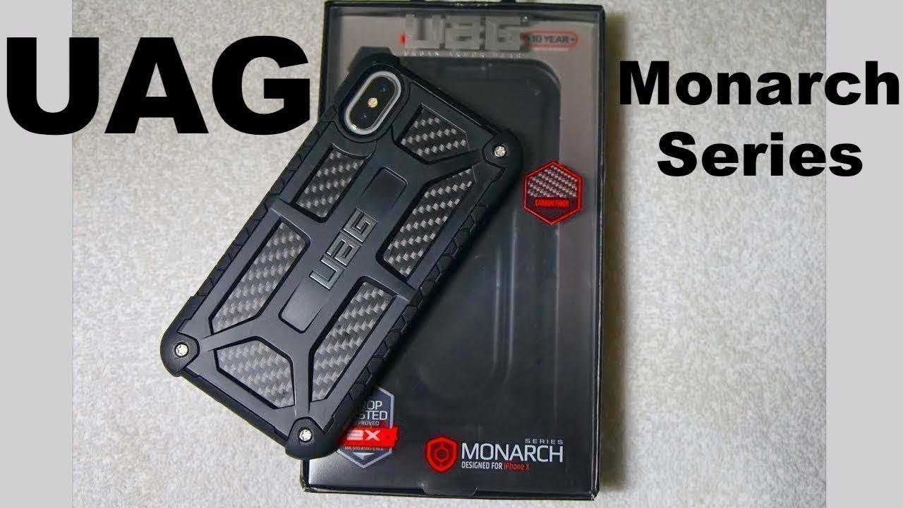 brand new ac53d 2d365 UAG Monarch Carbon Fibre iPhone X Case - Review - The Toughest Case EVER!
