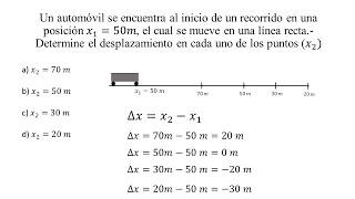 Ejercicio de Desplazamiento (Física)