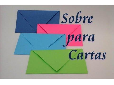 Como hacer un sobre para cartas (origami)