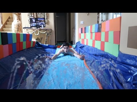Thumbnail: CRAZY INDOOR SLIP N SLIDE!! (FLOODED OUR HOUSE)