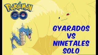 Ninetales Solo Attempt With Waterfall Gyarados In Sunny Weather  Pokemon GO Solo Raid