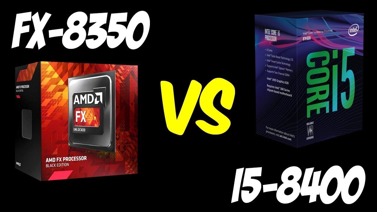 💥AMD FX-8350 vs i5-8400 🔥Benchmarks + Gaming Test! 🎮 [4K]