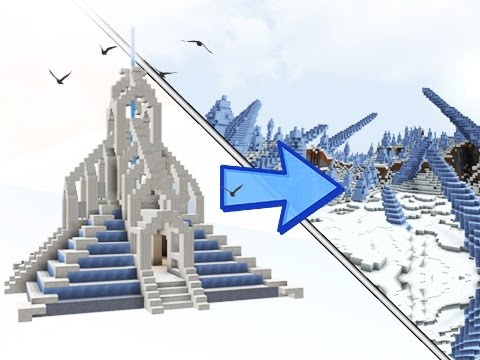 Minecraft: How To Build An Ice Biome Temple!