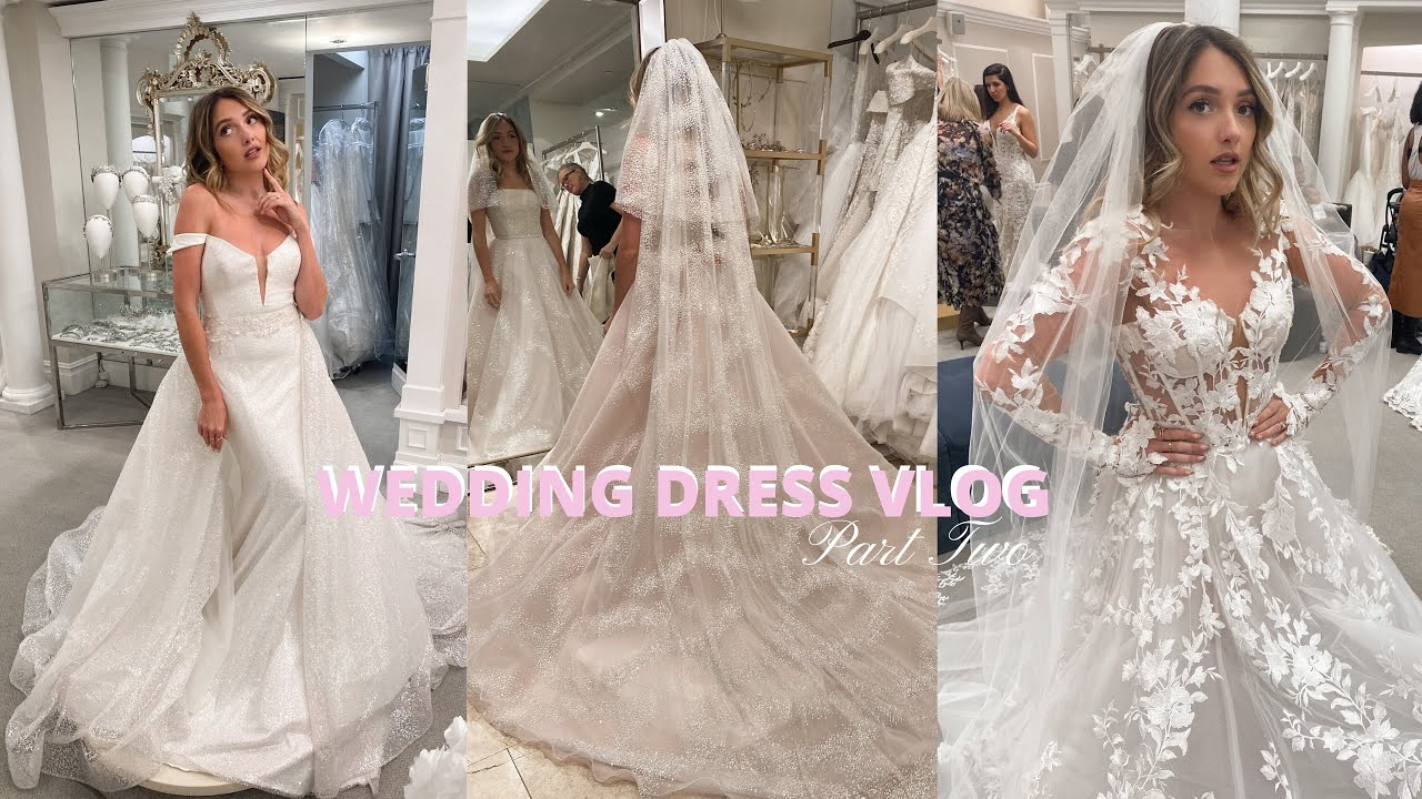 WEDDING DRESS VLOG Pt. 20 NYC Say yes to the dress, Kleinfeld Bridal, Berta,  Galia Lahav, Mark Ingram