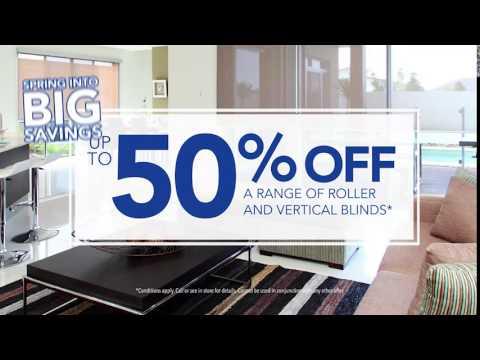 Sydney Blinds & Screens TVC September October 2016 - Up to 50% Off