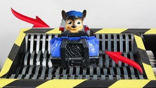Experiment Shredding Paw Patrol And Toys | The Crusher