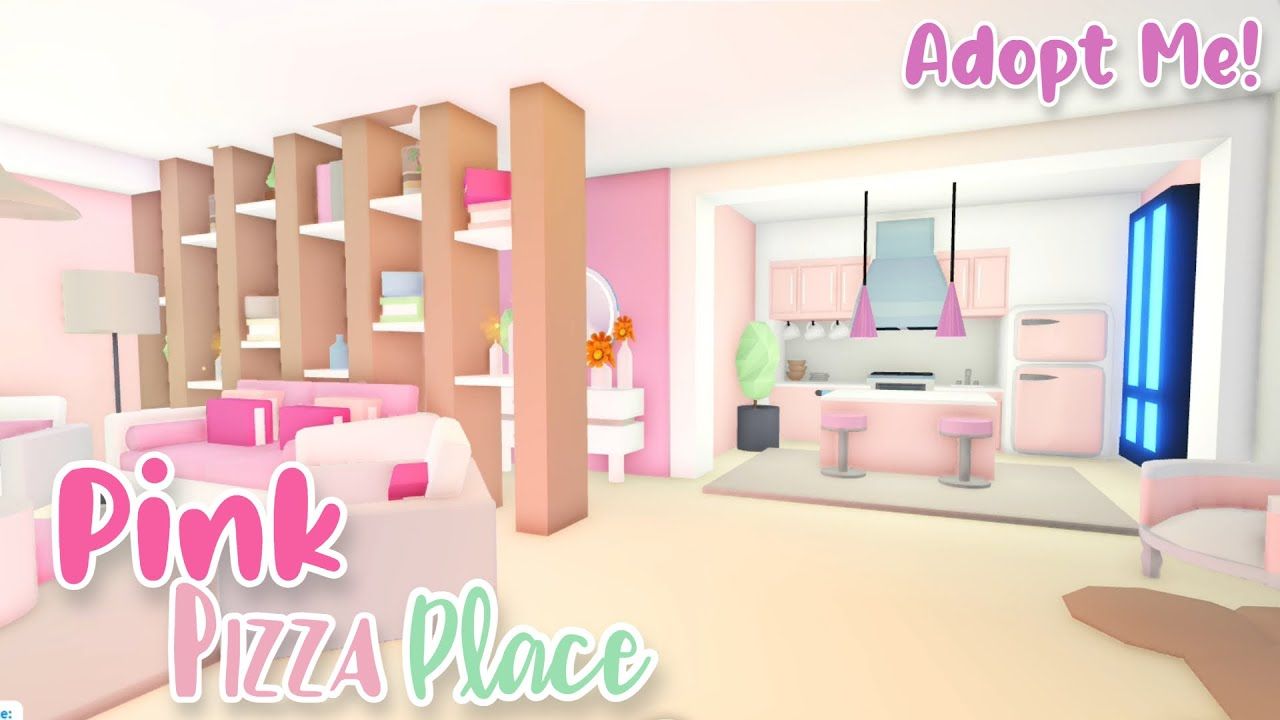 Pink Pizza Place Speed Build | Roblox Adopt Me