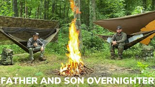 Overnight at The Secret Pond With My Son and Double Bacon Bourbon Jam Cheese Burgers