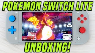 Nintendo Switch Lite POKEMON EDITION Unboxing + Review! (Zacian and Zamazenta Switch Lite)