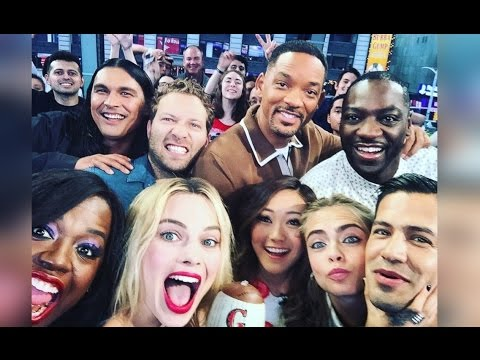Suicide Squad FULL CAST INTERVIEW | Will Smith, Margot Robbie, Viola Davis, Cara Delevingne & More