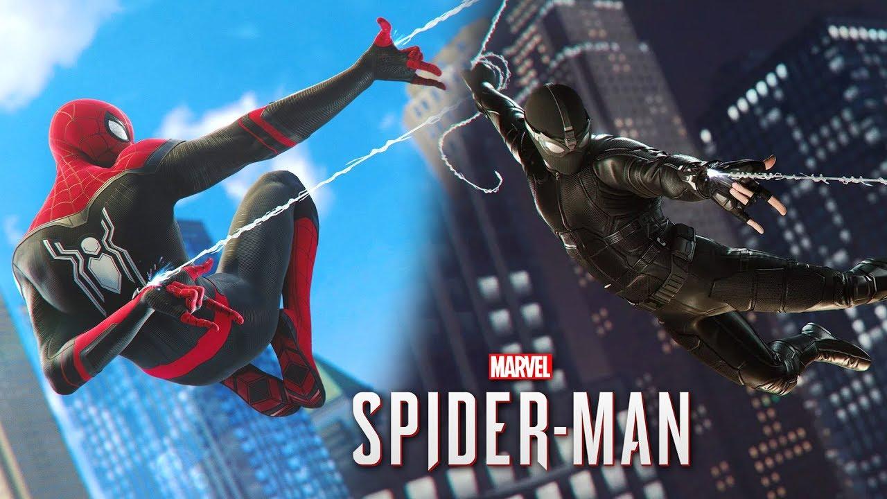 NOVOS UNIFORMES HOMEM ARANHA LONGE DE CASA!! - SPIDER-MAN PS4