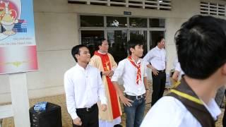 thiếu nhi Bắc Hải Mừng lễ tạ ơn Tân Linh Mục Giuse Phạm Thanh Quang.