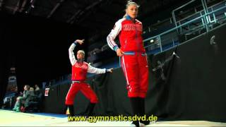 Alexandra Soldatova & Dina Averina - Warm Up at World Cup Espoo 2016