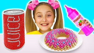 Sasha Play Easy DIY Science Experiments for Kids with Magnets, Skittles Rainbow and Baking Soda