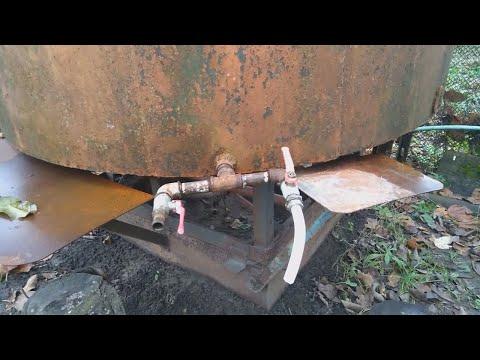 Как заделать дырку в железной бочке без сварки