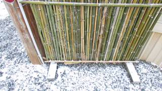 Bamboo Fence Screen Is Easy To Build