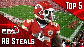 Top 5 Running Back Steals  2019 Fantasy Football Advice