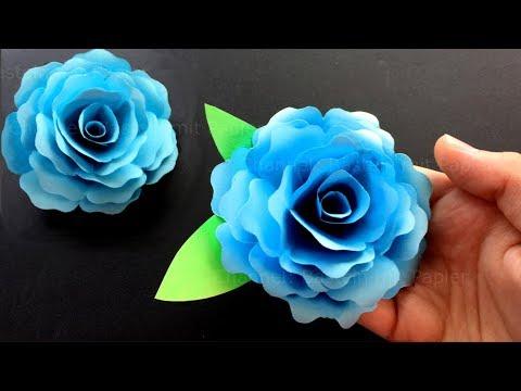rose basteln mit papier bastelideen diy geschenke selber machen origami blumen falten youtube