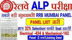 RRB ALP बड़ी ख़ुशख़बरी! RRB MUMBAI ALP PANEL LIST जारी//मात्र 32% Selection | Panel-2 कब आयेगा??