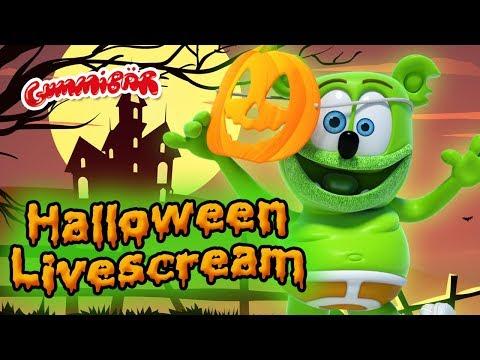 The Gummy Bear HALLOWEEN Live Scream 🔴 Gummibär Animated Halloween Videos