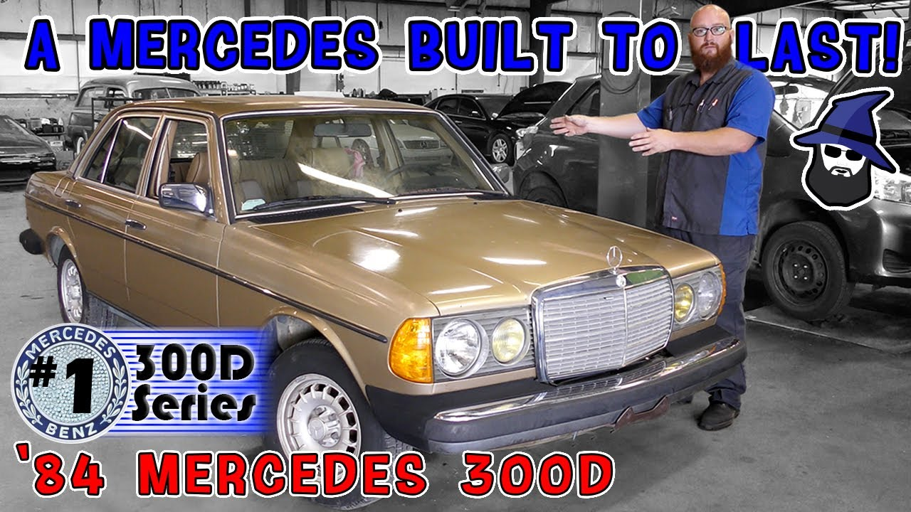 Tank of a Mercedes 300D with a 3L Turbo Diesel! CAR WIZARD finds lots of surprises under the hood!