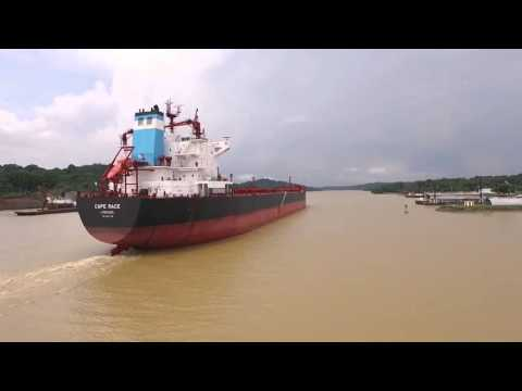 Bulk Carrier Ship at the Panama Canal