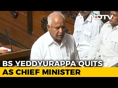 Watch: BS Yeddyurappa's Speech In Karnataka Assembly Announcing Resignation