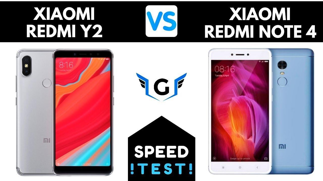 Redmi Y Vs Redmi Note  Speed Test Comparison