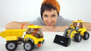 Игры для детей. Самосвал из конструктора Лего. Видео с игрушками для детей.