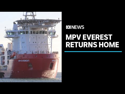 Antarctic supply ship MPV Everest limps into WA port after fire | ABC News