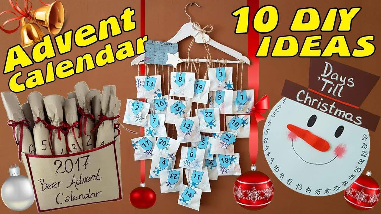 10 Diy Advent Calendar Idea How To Youtube