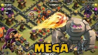 Ataque MEGA cambiando un golem por gigantes | Clash of Clans