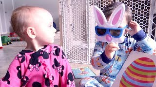 Twins Receive a Fun Easter Present