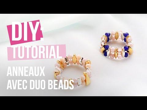 Bijoux à faire soi-même : Bagues avec des perles Duo Beads ♡ DIY