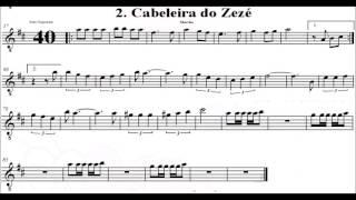 Baixar Marchinha Carnaval Cabeleira do Zezé Sax Alto Partitura com voz