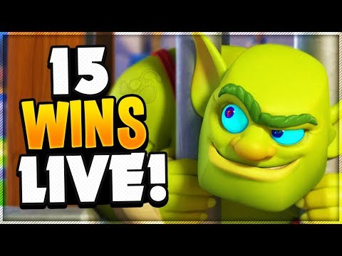 New GOBLIN CAGE Card - Journey To 15 Wins In CLASH ROYALE!
