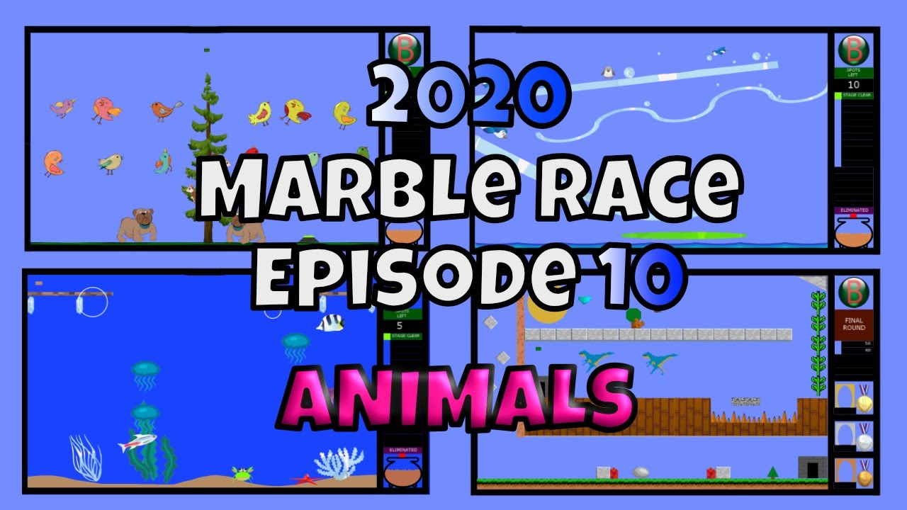 2020 New Marble Race Survival Episode 10 – Animals