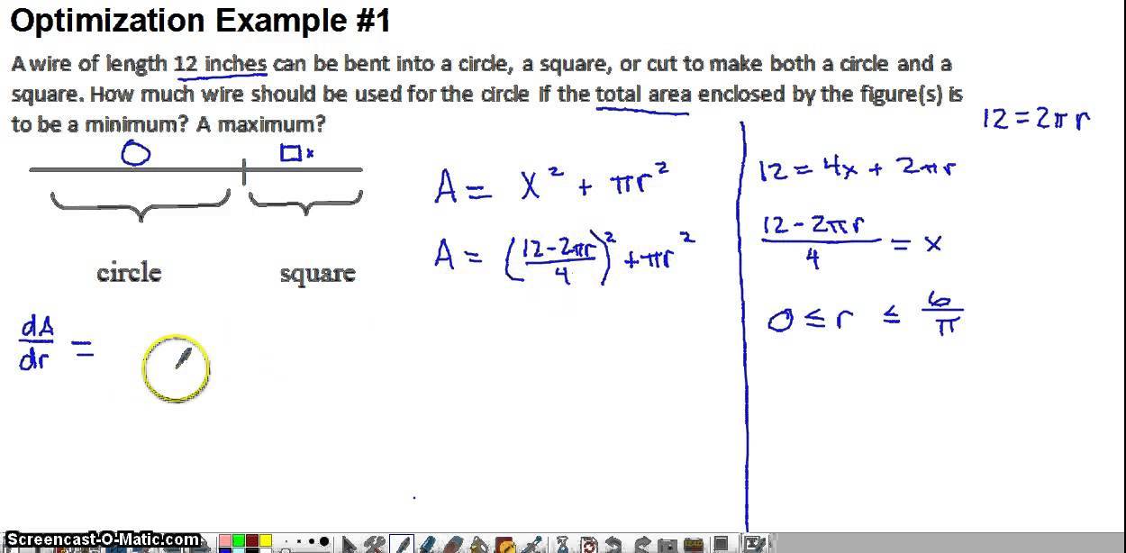 worksheet on optimization in calculus kidz activities. Black Bedroom Furniture Sets. Home Design Ideas