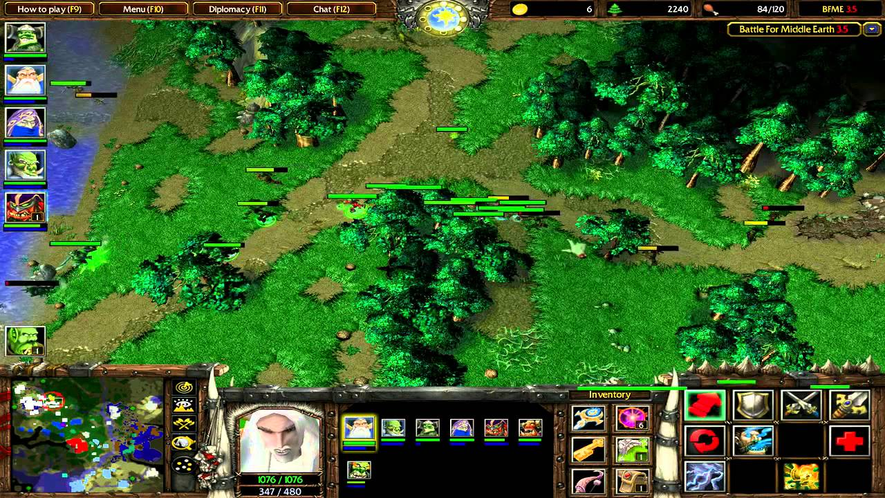 Warcraft 3 Custom Map Battle for Middle Earth  YouTube