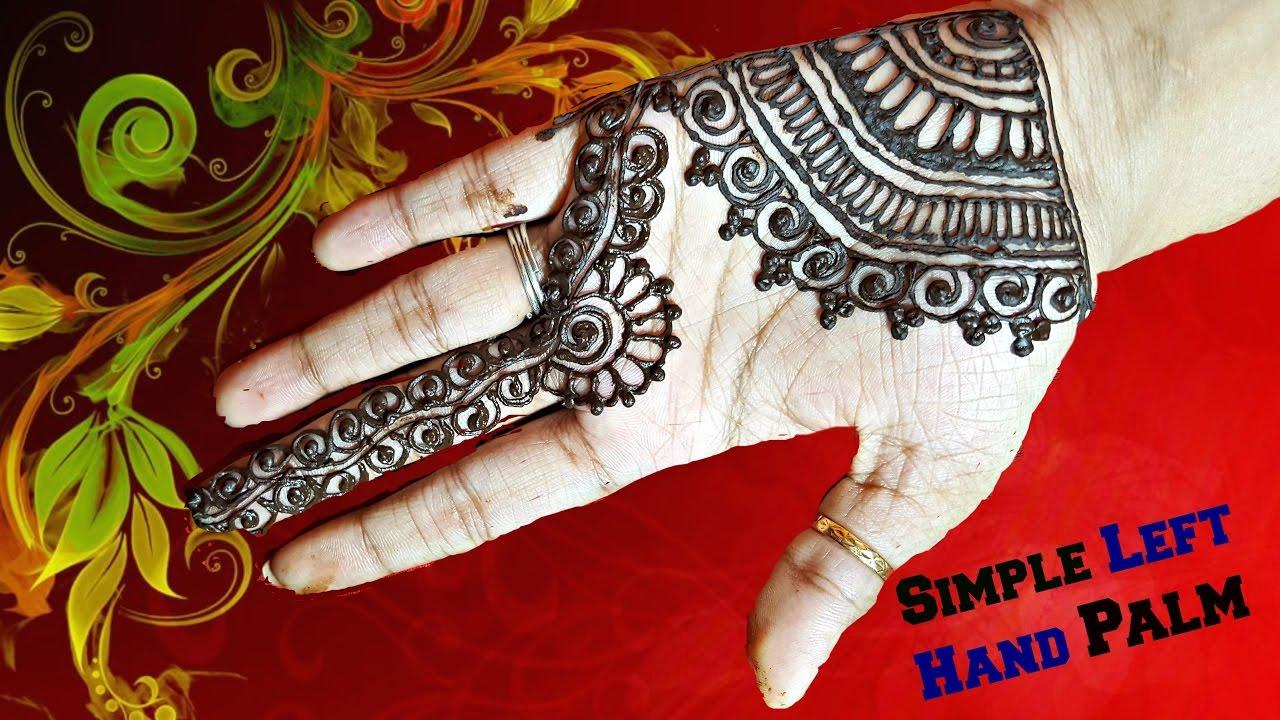 Bridal Mehndi Designs For Left Hand Palm Tutorial 21
