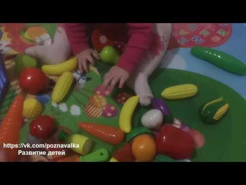 Игрушечные овощи и фрукты. Игры в 9 месяцев.